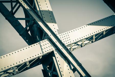 filtered: Modern Bridge frame closeup. Filtered image
