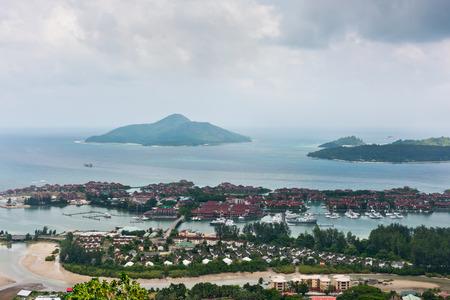 eden: Aerial view of Eden Island Mahe Seychelles. Horizontal shot