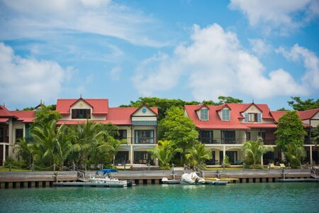 eden: A beautiful view of marina at Eden Island, Mahe, Seychelles