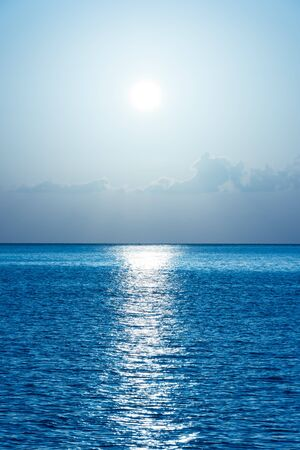 filtered: Beautiful tropical ocean background. Fantasy filtered shot Stock Photo