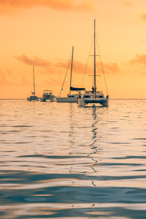 indian ocean: Recreational Yacht at the Indian Ocean. Beautiful sunset