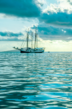 indian ocean: Recreational Yacht at the Indian Ocean. Beautiful dream Stock Photo