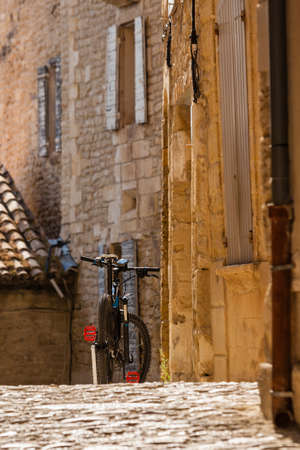 southern europe: A bicycle on a street of an old town in the Southern Europe. Sunny day