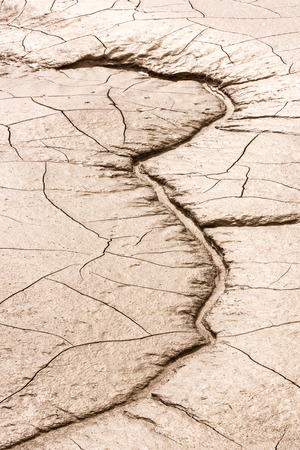mire: details of a dried cracked earth soil. background