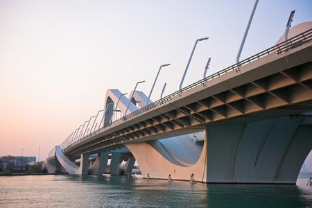 zayed: Sheikh Zayed Bridge, Abu Dhabi, United Arab Emirates Stock Photo