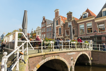 canal street: NETHERLANDS, AMSTERDAM - OCTOBER 2: Amsterdam Canal Street view on October 2, 2015 Editorial