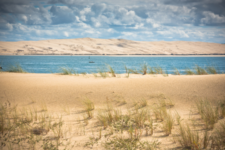 duna: View of The Arcachon Bay and The Duna of Pyla, Aquitaine, France Stock Photo