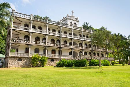 priesthood: SEYCHELLES, VICTORIA - JANUARY 18: la domus the imposing residence of the roman catholic priesthood in Victoria, Mahe, Seychelles on January 18, 2015