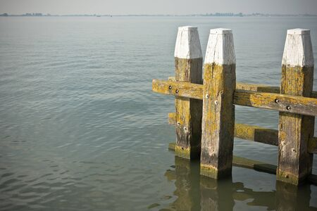markermeer: Northern Sea landscape: still water and wooden pier