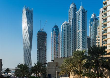 december 31: UAE, DUBAI - DECEMBER 31: view of Dubai Marina, United Arab Emirates on December 31, 2014
