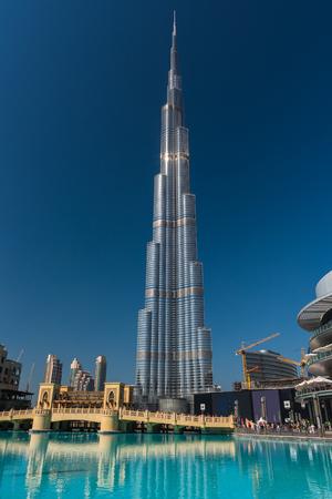 tallest bridge: DUBAI, UAE - JANUARY 02: Burj al Khalifa, the tallest building in the world on January 02, 2015 in Dubai, United Arab Emirates
