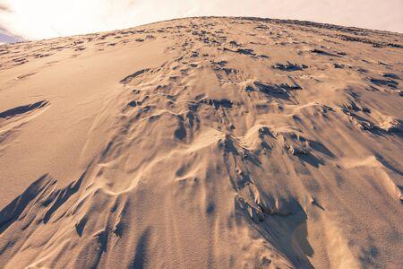 Close up of the dune of Pyla, Europes highest dune Stock Photo