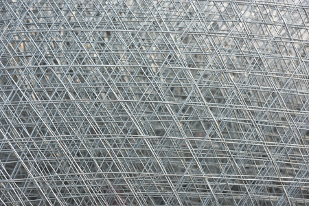 enclose: Re-bar Metal Grid. Abstract steel design Stock Photo