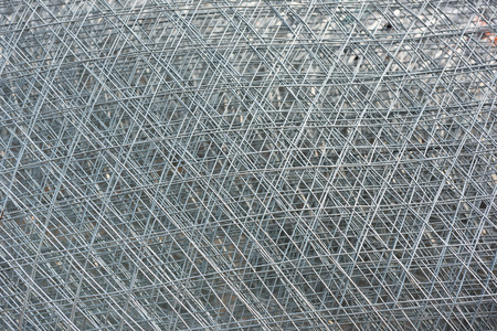 metal grid: Re-bar Metal Grid. Abstract steel design Stock Photo