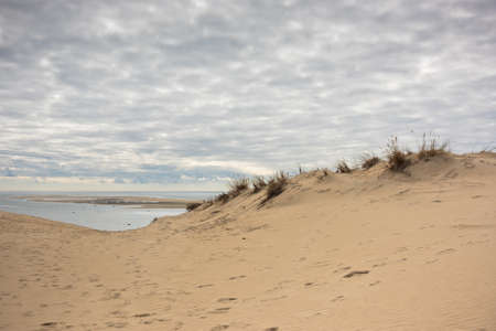 aquitaine: View of The Arcachon Bay and The Duna of Pyla, Aquitaine, France Stock Photo