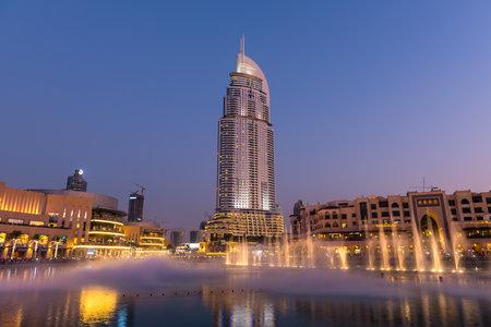 UAE, DUBAI - JANUARY 01: Dubai fountains show at the Dubai Mall on January 01, 2015
