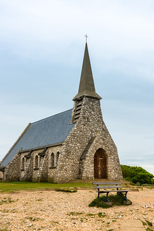 Chapel of Notre Dame de la Garde in Etretat, Normandy, France