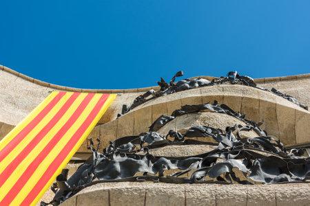 SPANJE, BARCELONA - SEPTEMBER 13: de gevel van het huis Casa Battlo in Barcelona, ??Spanje op 13 september 2015