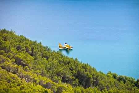 Firefighting plane training in Krka park, Croatia