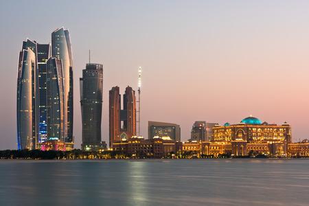 Abu Dhabi buildings skyline Stock Photo