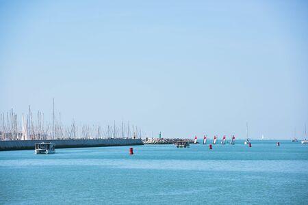 View of La Rochelle, France marina