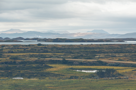 Skutustadagigar pseudocraters near Skutustadir village in the lake Myvatn area, Iceland