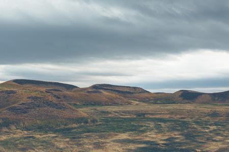 crater lake: Skutustadagigar pseudocraters near Skutustadir village in the lake Myvatn area, Iceland