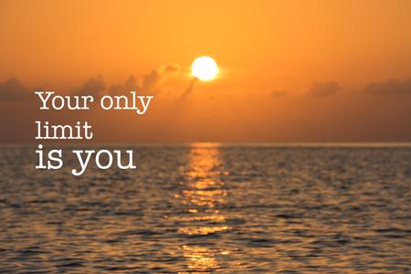 Cita De Motivación Inspirada Con La Frase El Cielo Es El