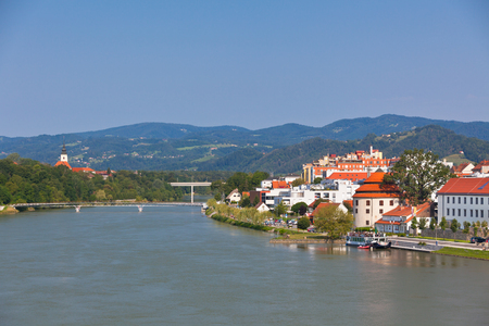 SLOVENIA, MARIBOR - JULY 18: Skyline of Maribor city in the sunny day, Slovenia on July 18, 2014
