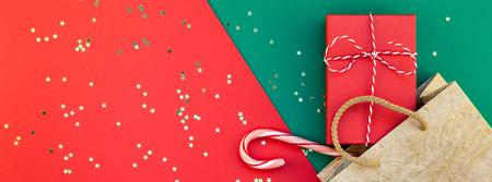 new year or christmas presents preparation diy flat lay top view xmas holiday celebration handmade gift