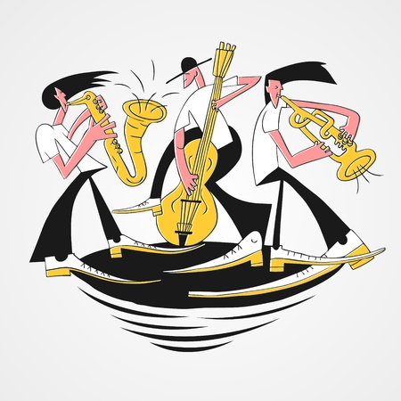 tuba: jazz band Illustration