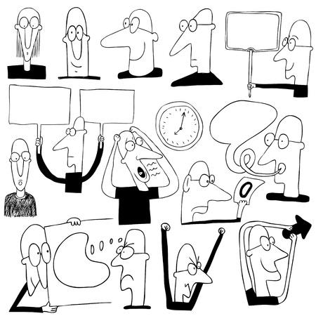 caricaturas de personas: hombre de negocios gracioso