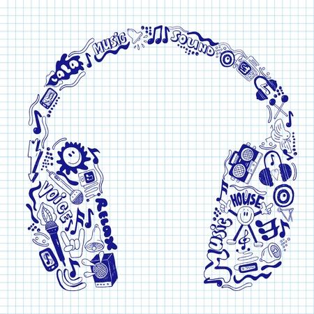 sound icon: music headphones