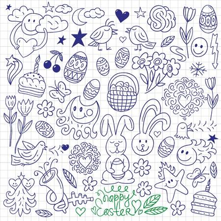Easter - doodles set