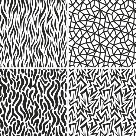 wavy fabric: seamless backgrounds set