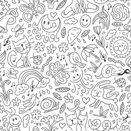 Spring - seamless background Vector