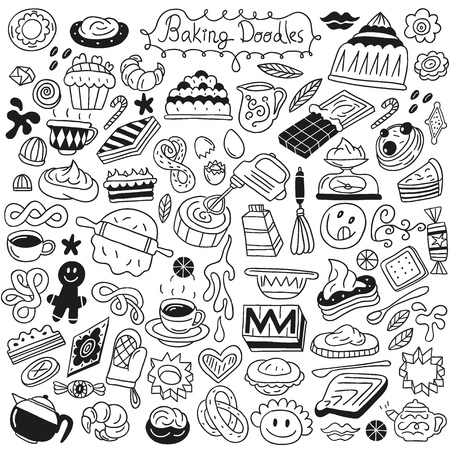 sweet baking doodles Stock Vector - 18085983
