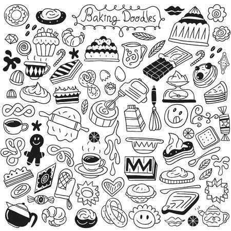 sweet baking doodles Stock Vector - 18085983