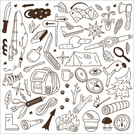 Camping - doodles collection Stock Vector - 18204427
