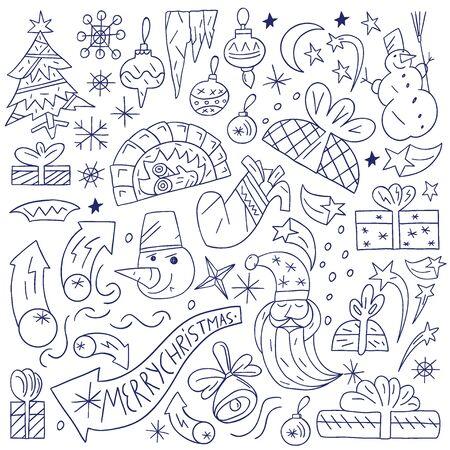 Christmas doodles Stock Vector - 18204437