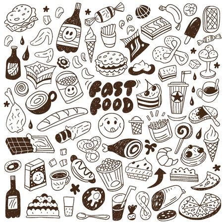 fast food - doodles set Stock Vector - 18204431