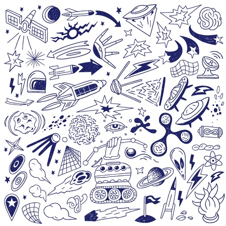 space - doodles collection Stock Vector - 18284593