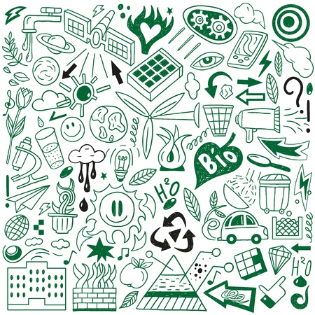 bio fuel: Ecology - doodles collection