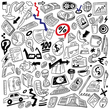Business - doodles set Stock Vector - 18359314
