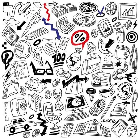 Business - doodles set Stock Vector - 18359314