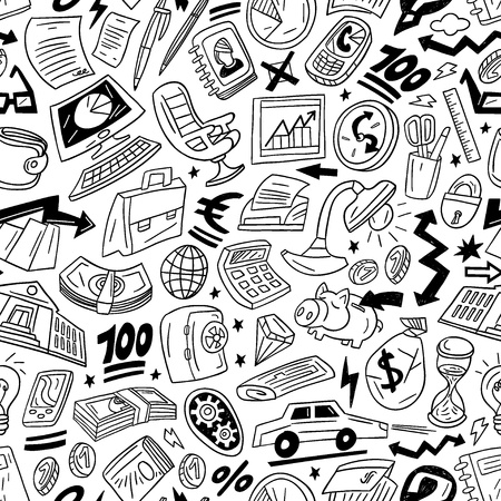 Business - seamless vector pattern Stock Vector - 18359312
