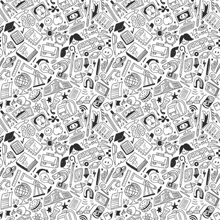 School education - seamless vector pattern Vector
