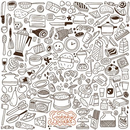 esboço: Doodles de culin