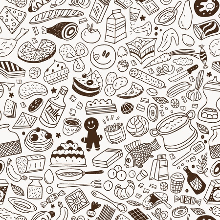 food ,cookery - seamless vector pattern Stock Vector - 18426895