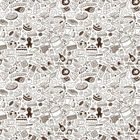 food ,cookery - seamless vector pattern Vector